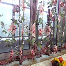 hot  Blumen Tüll Vorhang für Mädchen Tür Fenstervorhang Schlaufenschal Vorhang