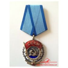 USSR SOVIET RUSSIAN MEDAL ORDER OF THE RED BANNER OF LABOR Nr. 248555 FLATBACK