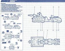 G.I. JOE Series 6 Vintage Blueprints Original Instructions MARAUDER