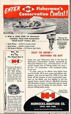 1958 Print Ad H-I Horrocks-Ibbotson Fishing Rods Reels Lone Star Boat Evinrude