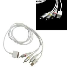 USB TV RCA Video Composite AV Cable to Ipod Adapter For iPad2/3 iPhone4/4S white