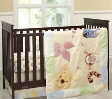 Disney Baby Peeking Pooh 7 Piece Crib Bedding Baby Cover Bed Set NEW