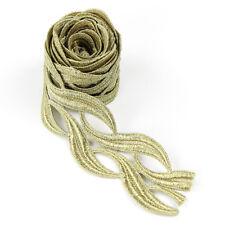 Metallic Gold Braid Lace Edge Designer Trim & Sewing Ribbon 2 Yards 6cm Wide DIY