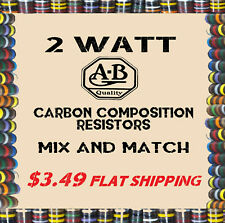 2 Watt Carbon Comp Composition Resistors ~ Allen-Bradley ~ NOS ~ Many Values