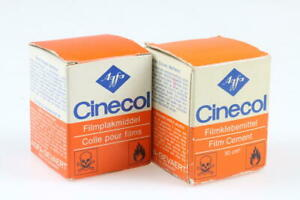 AGFA Cinecol Klebemittel für Schmalfilme (Abgelaufen) 2 Stück