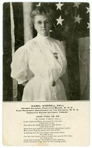 Postcard - Isabel Worrell Ball, Woman's Relief Corps, Auxiliary to GAR - C.1905