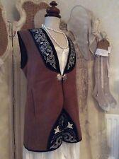 K53 Welsh Designer Wool Sleeveless Jacket /Waistcoat~Fab Embroider /Clasp Detail