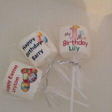 3 marshmallow lollipops Gift  Personalised Novelty Gift easter birthday