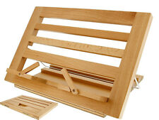NEW WOODEN READING/ IPAD REST BOOK RECEIPE HOLDER DISPLAY STAND BEECH WOOD COOK