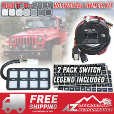 ▪Switch-Pros▪ SP-9100 Horizontal 8 Switch Wiring System Truck✔ Jeep✔ UTV✔ Boat✔