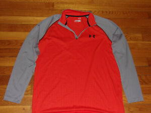 UNDER ARMOUR HEATGEAR 1/2 ZIP LONG SLEEVE PULLOVER JERSEY MENS MEDIUM EXCELLENT