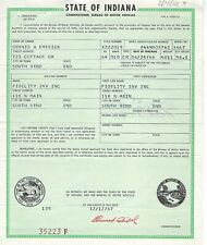 1964 Oldsmobile Olds 88 Convertble Indiana Title Signed Historical Document