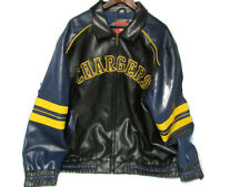 New listing NFL Leather San Diego Chargers Men's XXL Double Pocket Zip Up Jacket