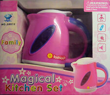Pink Toy Fashion Kettle. With light & Sound. From the Magical Kitchen Set Range