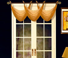 1PC K36 ELEGANT ANTIQUE GROMMET VOILE WINDOW SOLID SHEER WATERFALL SWAG VALANCE