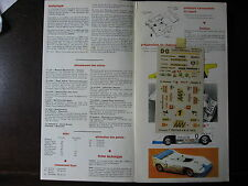 1/43  VINTAGE SOLIDO GUIDE ET DECALS N°3 PORSCHE CAN-AM DECALCOMANIES