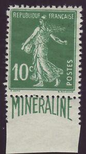 FRANCE 188A - Semeuse 10c vert Minéraline