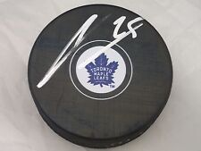 James Van Riemsdyke Toronto Maple Leafs Autographed NHL Logo Puck with COA jvs3