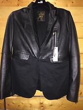 DIESEL WOMEN LEATHER JACKET BLAZER