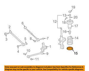 TOYOTA OEM Rear-Lower Spring Insulator 4825832021