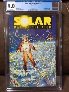 Solar, Man of the Atom #1 CGC 9.0 White pages Valiant 1st Solar