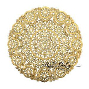 "GOLD FOIL MEDALLION Paper Doilies   4"" 5"" 6"" 8"" 12"" Gold Charger Placemat"