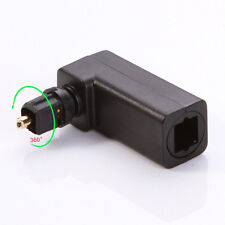 Standard Optical Male Female Toslink SPDIF Joiner Adapter Black 90 Right Angle