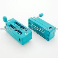 2PCS ZIF 16-pin 16 Pins Test Universal IC Socket 16 Pin DIP 2.54mm