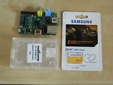 Raspberry Pi Model B 512MB + Case + 32GB SD