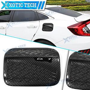 Sport Style Carbon Fiber Tank Cover Gas Cap Trim For Toyota Camry 2018-2020 2021