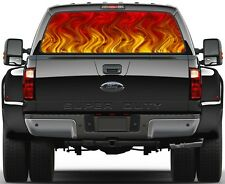 Red Flame Rear Window Graphic Decal for Truck SUV Vans