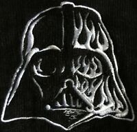 Star Wars Darth Vader Mens Adult Official Black Embroidered Dressing Gown - New