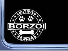 "Certified Borzoi L327 Dog Sticker 6"" decal"