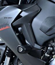 R&G PAIR BLACK CRASH BOBBINS - NON DRILL KIT Honda CBR1000RR SP (2018)