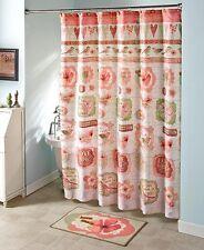 Vintage Retro Spring Birds Shower Curtain Rug Hearts Love Roses Full Bath Set