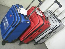 "Swiss Gear Luggage Set Lightweight 3 pieces: 28"", 24"", 20""inch Grey, Red or Blue"