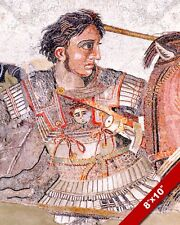ALEXANDER THE GREAT MOSAIC PORTRAIT PAINTING ISSUS WAR ART REAL CANVASPRINT