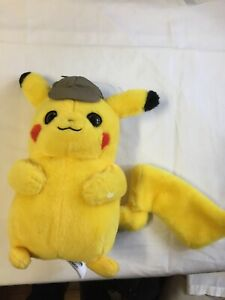 """Official Pokemon Detective Pikachu Plush Stuffed Doll Toy Gift Kids 8"""" Used"""