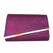 UK WOMENS SHIMMER GLITTER BRIDAL PARTY EVENING PROM ENVELOPE CLUTCH BAG