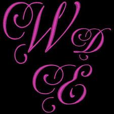 WEDDING 8  - 78 MACHINE EMBROIDERY FONT DESIGNS (AZEB)