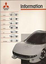 MITSUBISHI PRESS PACK 1988 MOTORSHOW + 1988 RANGE BROCHURE POSTFREE UK.