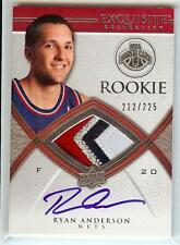 2008-09 EXQUISITE RYAN ANDERSON RC AUTO 4 COLOR PATCH 212/225!!