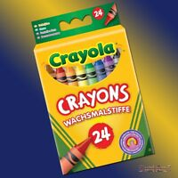 Crayola 24 Wax Crayons - Assorted Colours