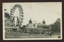 Austria WIEN VIENNA advert Cafe Restaurant Zum Eisvogel Kristal Big Wheel RP PPC