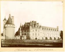 France, château de Chenonceau Vintage albumen print,  Tirage albuminé  11x16