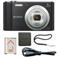 Sony Cyber-shot DSC-W800 20.1MP Digital Camera Black
