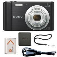 Sony Cyber-shot DSC-W800 20.1MP Digital Camera Black