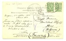 RUSSIA 1910 PPC RAILWAY PM - 168 - TO BELGIUM -F/VF