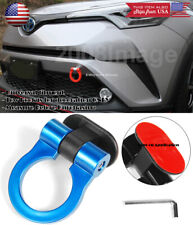 Blue Plastic Tape on Adjustable Decoration Tow Hook Ring For Ford Chevy Dodge