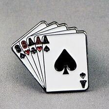 Metallo Smalto Spilla Badge Carte Da Gioco Full House Poker Gamble Casinò